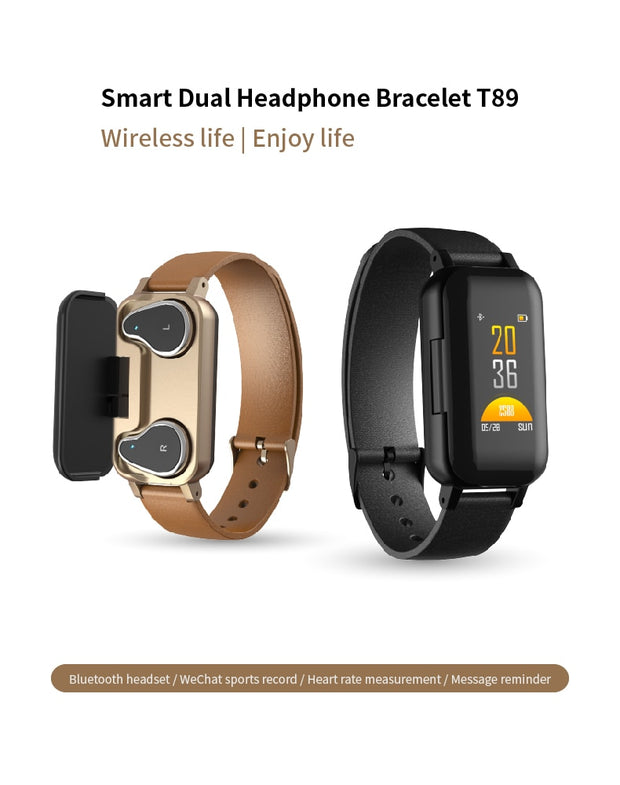 Advanced Smart Watch with Bluetooth Earphone