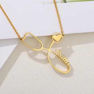 Personalized Stethoscope Necklace