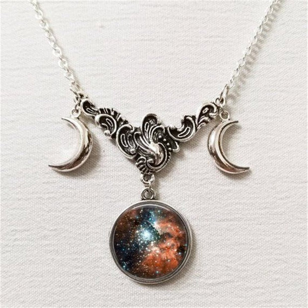 Constellation Tripple Moon Necklace