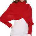 Autumn&Winter Fashion Crochet Knitted Scarf Shawl With Sleeves