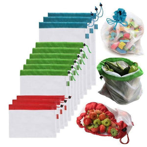 12pcs Reusable Produce Bags (Multiple Qty)