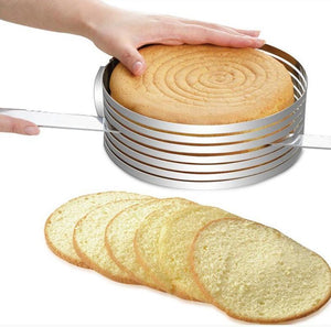 Delicious Layer Cake Adjustable Stainless Steel Cake Slicer