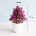 Lovely Bonsai Small Trees Potted Plants Artificial Flowers Décor