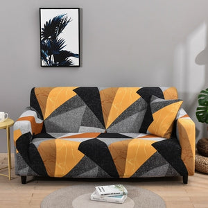 BunnelBee Unique Geometric Designs Universal Couch Covers Sofa Covers Stretch Slipcovers