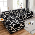 BunnelBee Attractive Geometric Floral Unique Designs Universal Couch Covers Sofa Covers Stretch Slipcovers