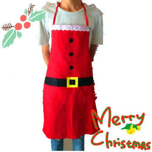 Kids Christmas Santa Clause Cooking Apron