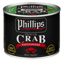 Load image into Gallery viewer, Speciality Items - Phillips Black Can Lump Crab Meat   1 lbs Can