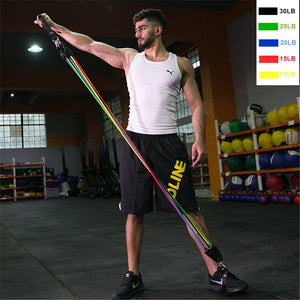 11 Pieces - Home Fitness - Resistance Bands