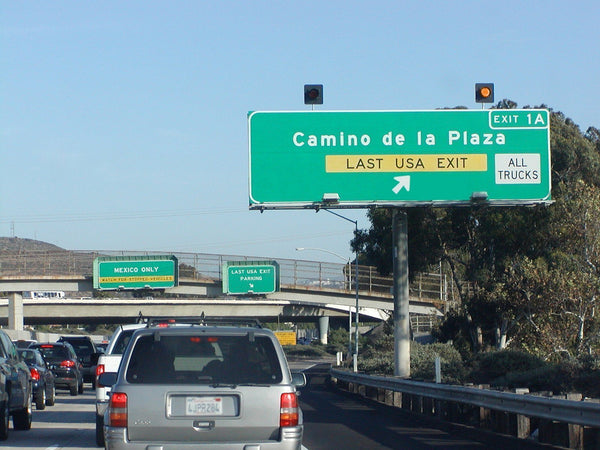 Last California Freeway Exit Before Mexican Border