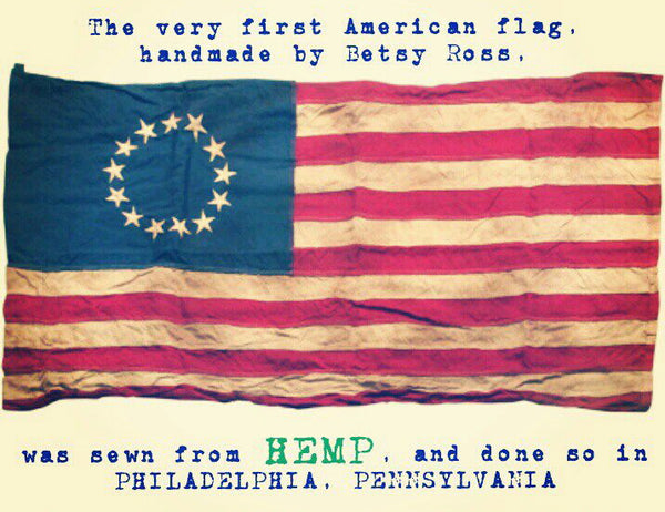 was the first american flag made of hemp?
