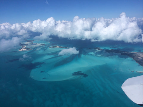 the exumas out islands from above