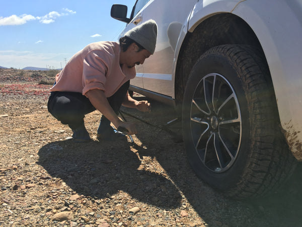 Change tires in Hemp Socks