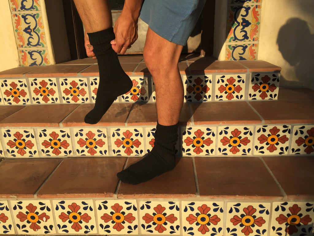 black organic cotton socks for men