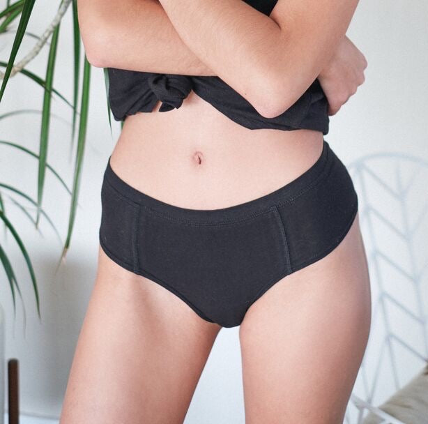 1-pack Hemp & Organic Cotton Underwear Women (Black)