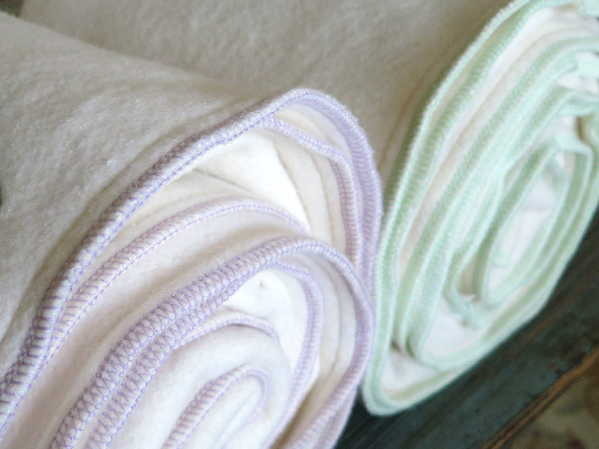 Lavender Hemp Cotton Fleece Baby Blanket