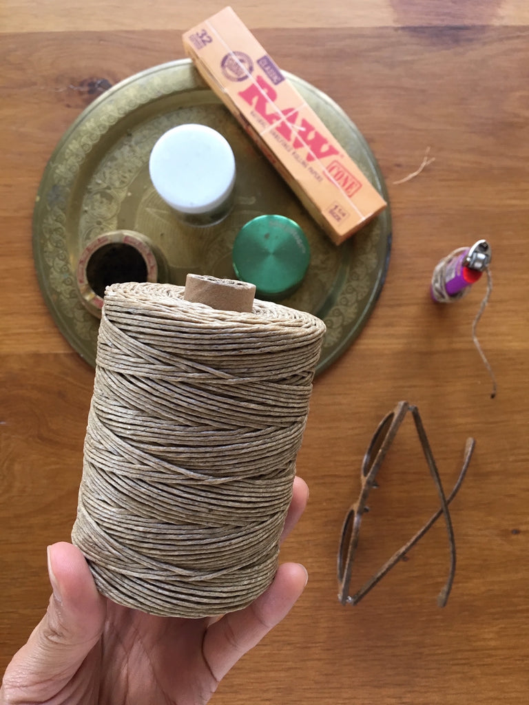 100% Natural Hemp Wick for Smoking (720ft) made from Organically Produced Hemp & Beeswax. Great for Candle, Necklace & Bracelet Making - 1MM