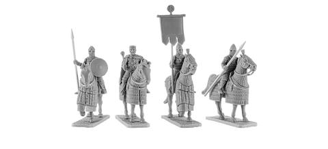 Byzantine Emperor with Generals and Standard Bearer (4)