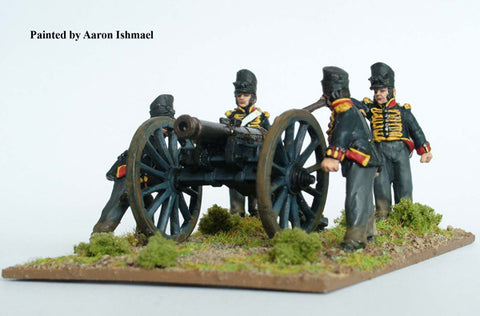 British foot Artillery firing 9 pdr