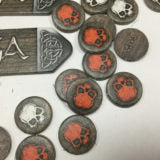 SAGA Cardboard Sticks and Tokens