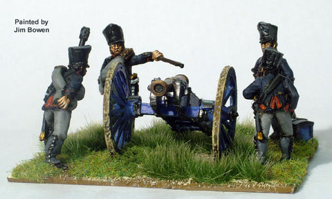 Prussian Foot Artillery firing 6pdr