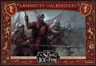 A Song of Ice and Fire: Lannister Halberdiers - Inglese