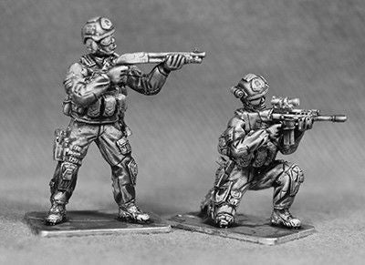 RAN06 - SEPARATE HEADS.  SNIPER CARRYING SR25 RIFLE.  SNIPER CARRYING MK13 RIFLE.  MARKSMAN WITH SCAR. CARRYING M1014 BENELLI SHOT GUN  MARKSMAN WITH SCAR.