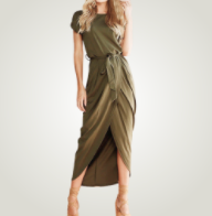 Load image into Gallery viewer, Short Sleeve Slit Summer Dress