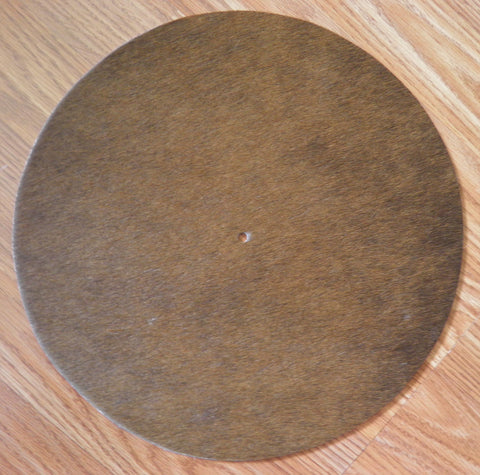 New! Turntable Mat - Brown Two Tone