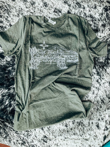 Just Peachy DWD Logo Tee- Army Green