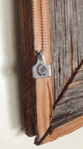 Chief Dainty Cow Tag Necklace