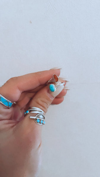 Coral and Turquoise Wrap