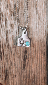 Arrowhead Dainty Cowtag Necklace