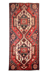 Hand Knotted Vintage Bakhtiari Persian Rug, 94 x 190 cm