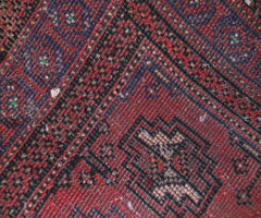 Hand Knotted Vintage Turkmen Persian Rug, 110 x 161 cm
