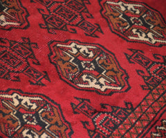 Hand Knotted Vintage Turkmen Persian Rug, 103 x 145 cm