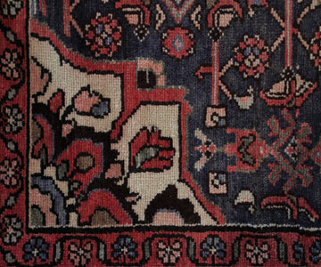Hand Knotted Antique Hamadan Persian Rug, 136 x 296 cm