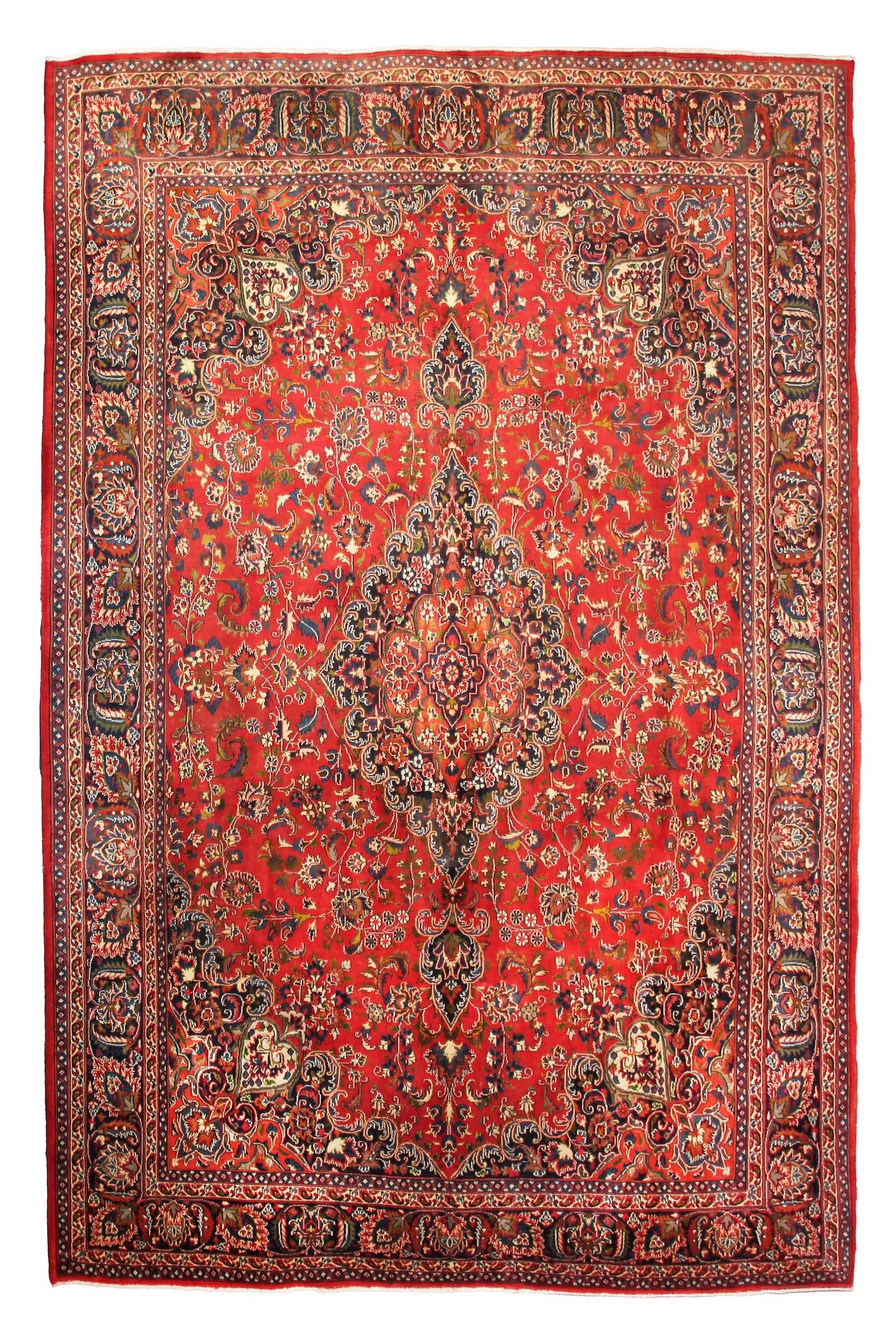 Hand Knotted Vintage Mashad Persian Rug, 304 x 385 cm