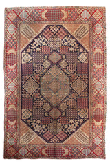 Hand Knotted Antique Kashan Persian Rug, 275 x 390 cm