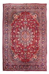 Hand Knotted Vintage Mashad Persian Rug, 292 x 380 cm