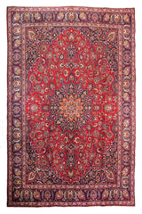 Hand Knotted Vintage Mashad Persian Rug, 283 x 382 cm