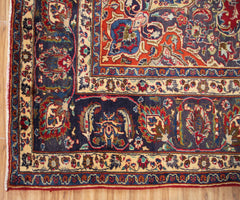 Hand Knotted Vintage Mashad Persian Rug,  283 x 378 cm