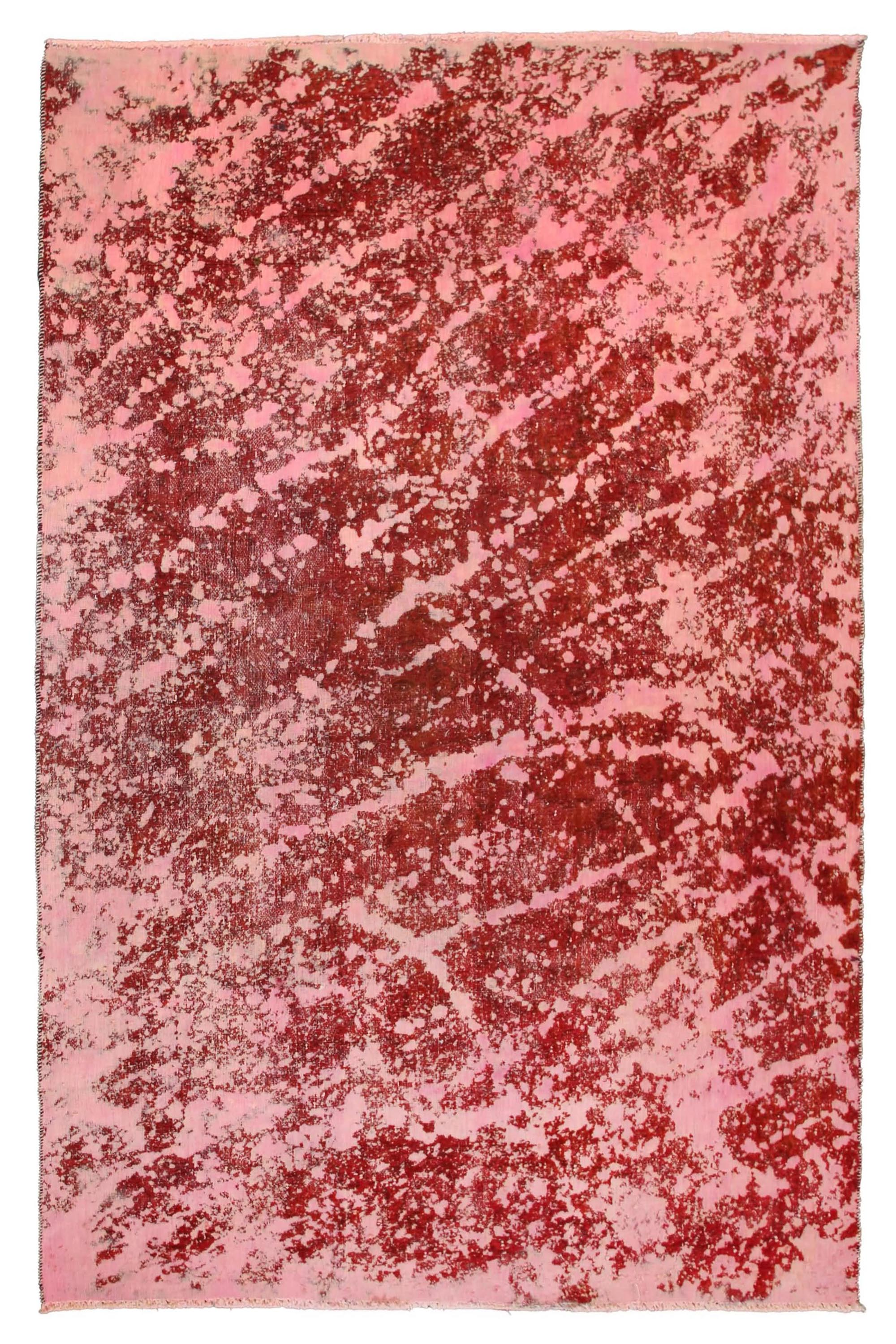 OVERDYED Hand Knotted Vintage Rug, 181 x 291 cm