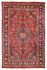 Hand Knotted Antique Mashad Persian Rug, 200 x 286 cm