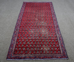 Hand Knotted Vintage Persian Shiraz Rug 104 x 295 cm