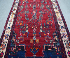 Hand Knotted Vintage Persian Shiraz Rug 154 x 262 cm
