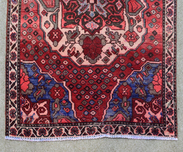 Hand Knotted Vintage Persian Shiraz Runner 102 x 300 cm