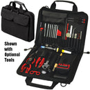 "Crawford 121-BLK Soft Sided Zipper Tool Case 14"" x 10"" x 2-1/2"" 36 Tool Pockets, Meter Pocket and Large Parts Pouch"