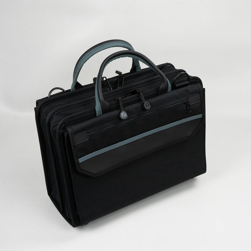 "Crawford 259-BLK Double-Sided 2-Compartment Soft Sided Zipper Tool Case with Laptop Storage 16"" x 11-1/2"" x 6"""