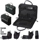 "Crawford 268-BLK Double-Sided 2-Compartment Soft Sided Zipper Tool Case with Laptop Storage 16"" x 11-1/2"" x 6"""