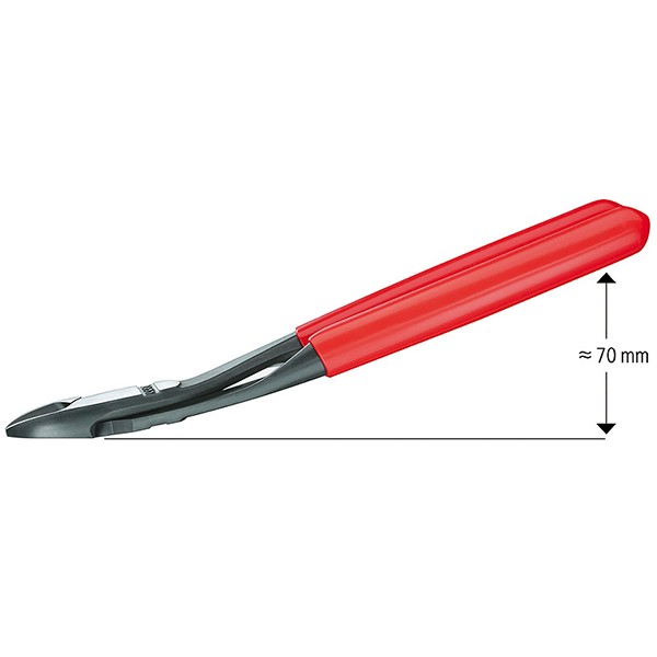 "Knipex 74 21 180 7"" High Leverage Angled Head Diagonal Cutters"